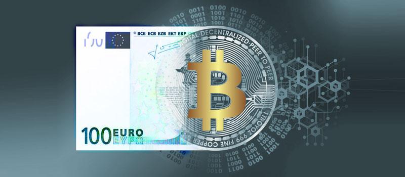 Bild - Bitcoin und Geldschein